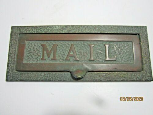 Cast Bronze Antique Letter/ Mail Slot...Arts & crafts style