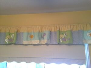 Window valance for babies room unisex