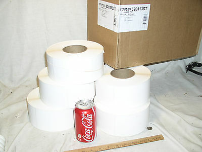 Five 1200 Rolls 6000 3 X 5 Inch Direct Thermal Perfed Labels Staples 620313