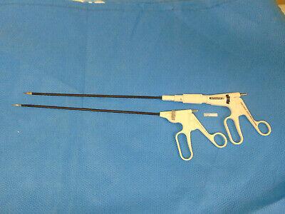 Lot Of 2 Auto Suture Scissors Endo Mini-shears Roticulator Endo Shears  Sr481