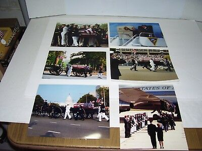 """Lot of 6 Ronald Reagan Funeral Procession Photos (8 by 10"""")"""