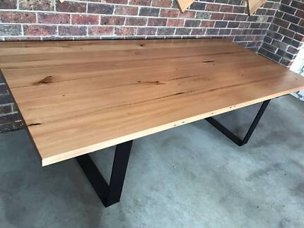 dining table timber loop leg melbourne made dining tables gumtree