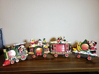 Vintage Disney Store Christmas Train Frame Set Mickey Mouse 4 Frames