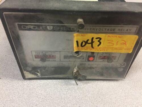 USED ABB CIRCUIT SHIELD OVERVOLTAGE RELAY 211U0175