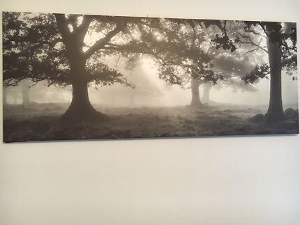Large blank and white stretch canvas print