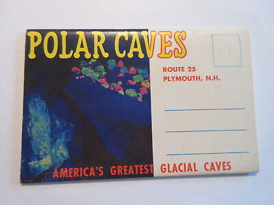Vintage Polar Caves New Hampshire Postcard Packet Booklet Route 25 Plymouth NH