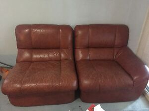 Leather couch Hornsby Hornsby Area Preview