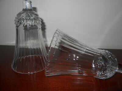 Clear Renaissance Votive Cups Lot of 2 Homco Home Interiors