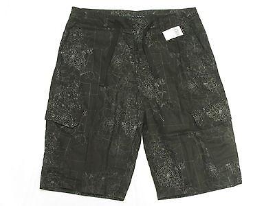 $69 NWT Mens Sean John Linen Blend Constellation Cargo Shorts Black Size 30 M839