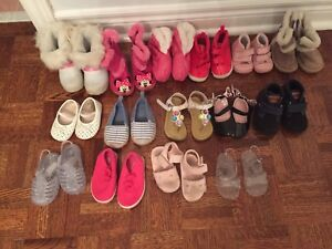 15 pairs of shoes, boots, sandals