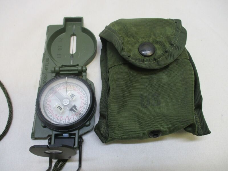 USED CAMMENGA 3H TRITIUM MILITARY MARCHING LENSATIC COMPASS MODEL 3-H OD GREEN