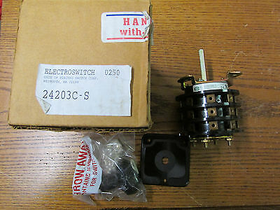 New Nos Electroswitch 24203c-s Rotary Switch 2hp 240480vac 2-20a 30-600vac