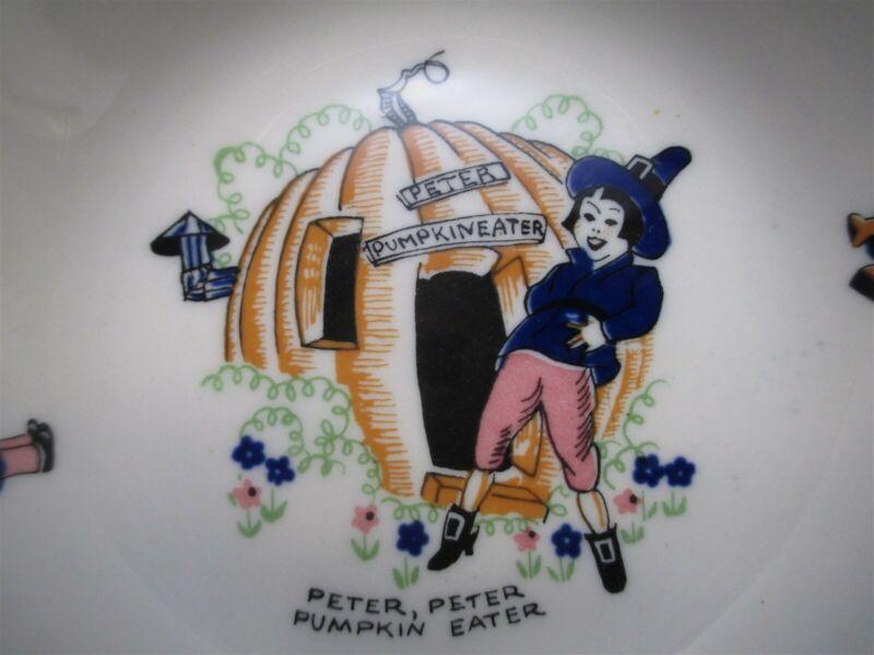 Vtg Shenango Peter Pumpkin Eater Nursery Rhyme Fruit Bowl Halloween Thanksgiving