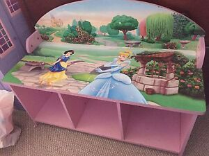 Princess Toy Storage Bench