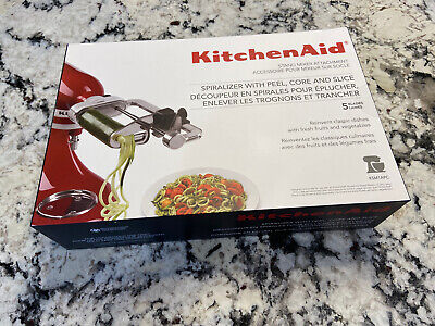 New KitchenAid Spiralizer Attachment with Peel, Core and Slice KSM1APC