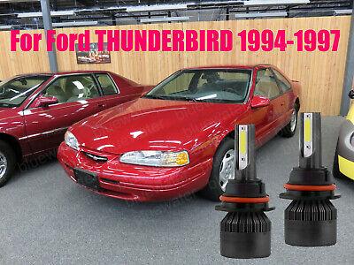 LED THUNDERBIRD 1994-1997 Headlight Kit 9007 HB5 6000K White Bulbs High&Low Beam