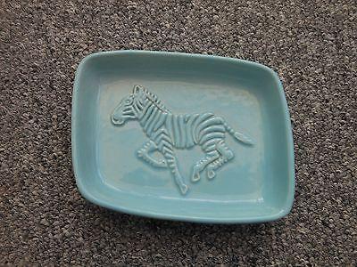 Wade blue zebra trinket dish tray 1950s / 1960s - rare colourway