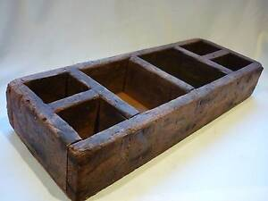 Old King Billy Pine Nuts & Bolts Box - Crate with 6 Compartments. Prospect Launceston Area Preview