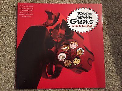 "Gorillaz Kids with Guns / El Manana 7"" red Vinyl,New /Mint Condition Rare"