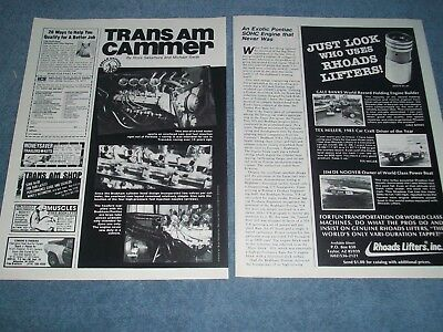 "Pontiac 303-inch SOHC Race Engine Info Article ""Trans Am Cammer"""