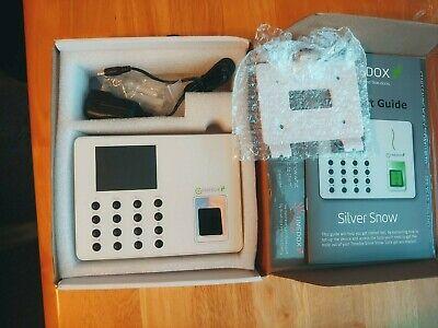Timedox Silver Snow Biometric Fingerprint Time Clock Scanner