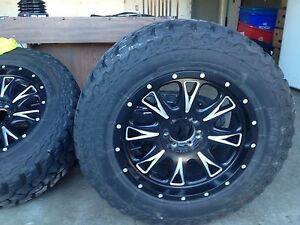 Fuel rims with Mickey Thompson tires