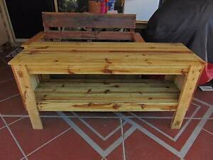 rustic pallet tv unit / hall table Coombabah Gold Coast North Preview