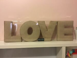 Love sign in brown Hampton Bayside Area Preview
