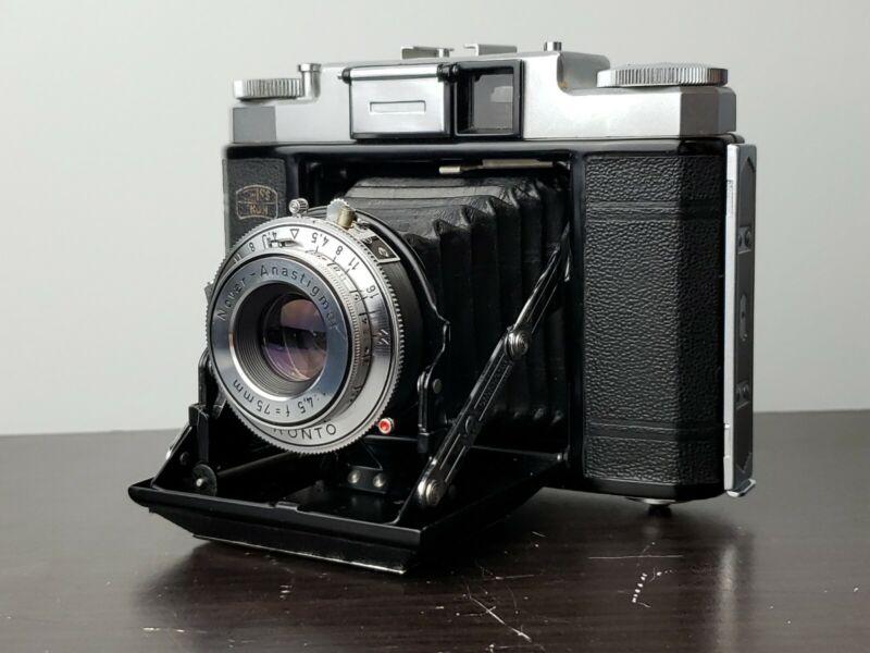 Zeiss Nettax (513/16) 6x6 Medium Format Folding with 75mm f4.5 Novar