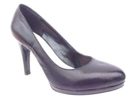 Franco Sarto Darren Black Leather High Heel Pumps Size 7 W