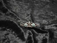 Anillo Vintage Plata Y Turquesas Snake Eye Tribu Zuni Hecho A Mano Talla 4,5 -  - ebay.es