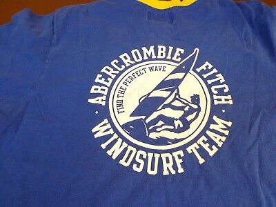 Abercrombie & Fitch  Windsurf  Team  Ringer Style T Shirt Size XL Muscle    Q2