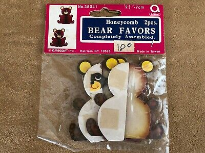 Vintage Baby Shower Decorations (Honeycomb Bear party favor vintage baby shower party 2 pc mini)