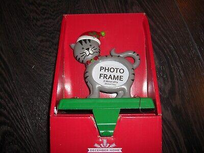 NEW CAT Photo Frame RESIN  Christmas Stocking Holder Hanger ()