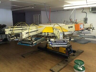Tas Automatic Screen Printing Press Plus Ingersoll Rand Aircompressor