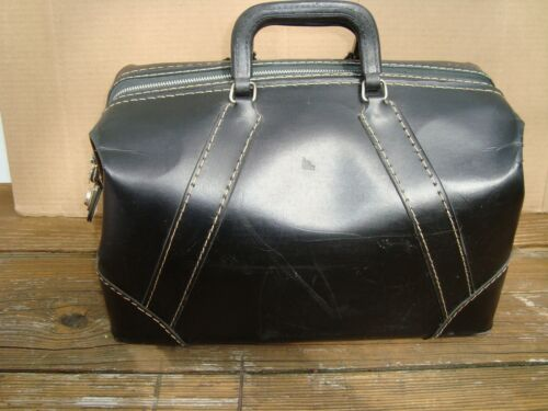 Vintage 1970s Doctors call /travel bag Black