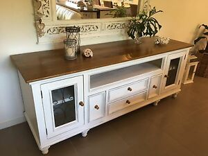 Buffet Hutch French Vintage Shabby Chic Gilston Gold Coast West Preview