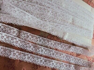 78 inch wide Vintage White Nylon Lace Trim 40 Plus Yards Generous Lot Lace Edging