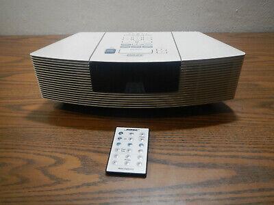 bose wave white radio cd player alarm clock awrc-1p w/ remote tested