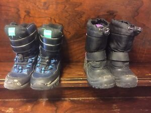 Boys size 13 and girls size 11 kids winter boots