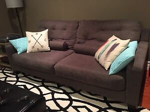 Matching grey couches