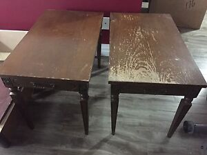 Pair of side tables - great painting pieces