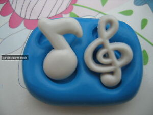Music Notes Silicone Mould/Mold Sugarcraft, Cupcakes, Chocolate, Cake Toppers