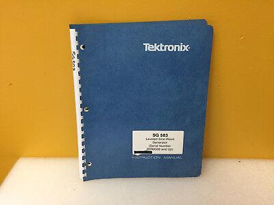Tektronix 070-6770-00 Sg503 Leveled Sine Wave Generator Instruction Manual