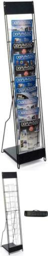 Floor Standing Literature Magazine Display Brochure Pocket Rack Catalog Portable