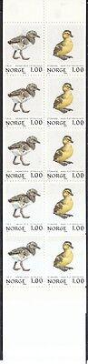 Norwegen 1980 postfrisch Markenheft 2 und 3 Vögel mit MiNr. 811-814