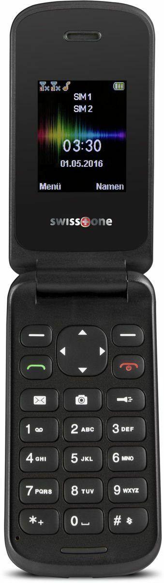 Swisstone SC330 Schwarz Klapphandy Sc 330 günstiges Handy für Kinder ode Notfall