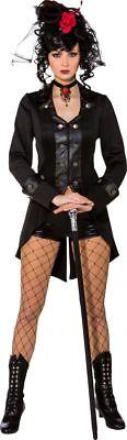 Orl - Damen Kostüm Gothic Jacke schwarz Halloween Steampunk