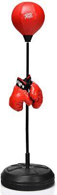 Punching Ball Altura Ajustable de 120-154cm Saco de Boxeo de Pie con...