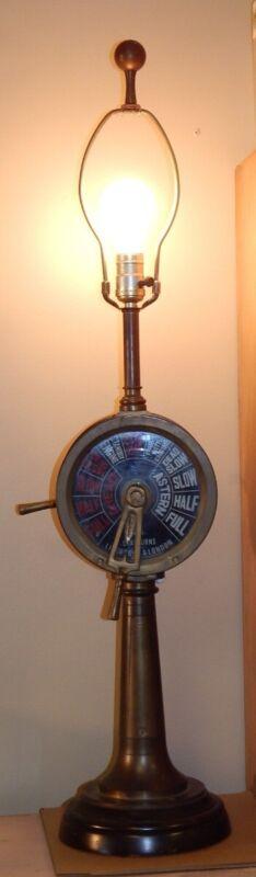 Ship Telegraph Table Lamp Chadburns Liverpool London Vintage